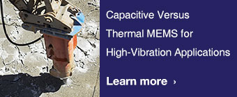 Capacitive Versus Thermal MEMS for High-Vibration Applications