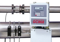 GE DigitalFlow™ GC868 Clamp-On Gas Ultrasonic Flowmeter